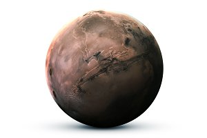Mars - High resolution 3D images presents planets of the solar system. This image elements furnished by NASA
