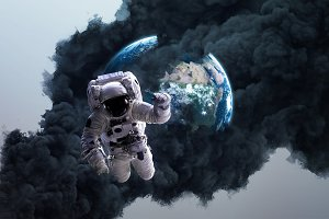 Worldwide disaster. Elements of this image furnished by NASA