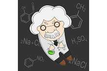 Professor of chemistry. Vector