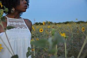 African Woman Looking Away
