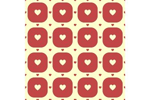 Heart pattern. Vector