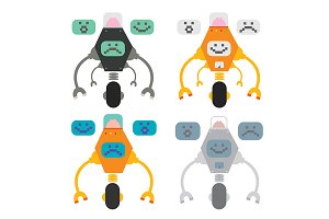 Emotion robots. Vector
