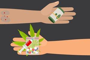 Drug buy illustration