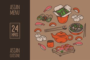 Asian cuisine (Chinese, Japanese)