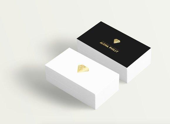 Diamond gold logo business card logo templates creative market colourmoves
