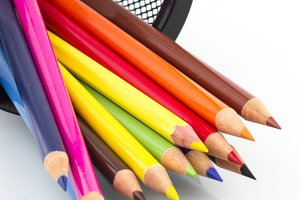Colored pencils with stand