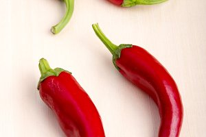 Hot chili peppers closeup
