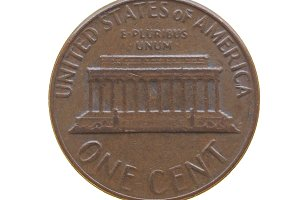 One cent coin
