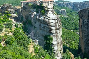 Meteora rocky monasteries, Greece.