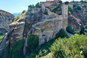 Meteora rocky monasteries, Greece.