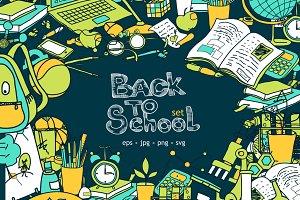 Back to School! doodle set