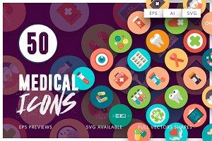 50 Medical Flat Icons
