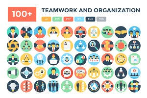 100+ Teamwork and Organization Icons