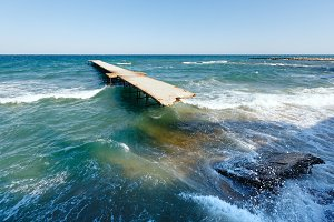 Summer Black Sea coast (Bulgaria).
