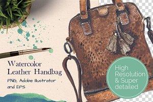 Watercolor Leather Handbag