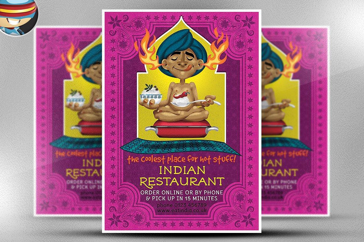 Indian Restaurant Flyer Template Flyer Templates