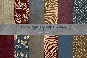 Savannah Twilight Golden Textures