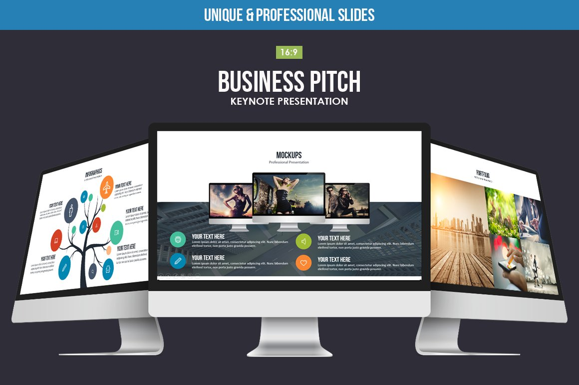 Business Pitch Keynote Template ~ Presentation Templates ~ Creative ...