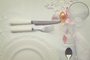 Tableware set for christmas