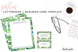 Palm Letterhead & Business Card Set