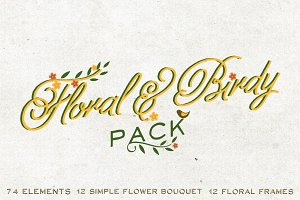Floral & Birdy Pack