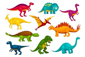 Dinosaurs cartoon characters