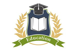 Education shield emblem
