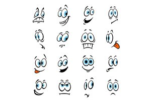 Cartoon human face expressions