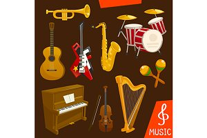 Wind and string musical instruments