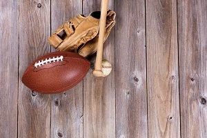 American Ball Sports on Wood