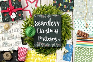Christmas Seamless Patterns v.2