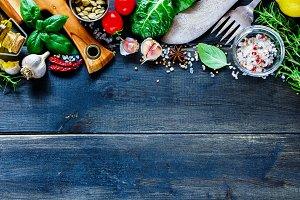 Vegetables and seasoning