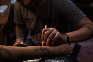 The tattoo artist
