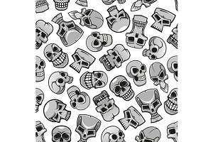 Halloween skulls seamless pattern