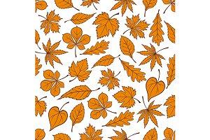 Yellow falling leaves pattern