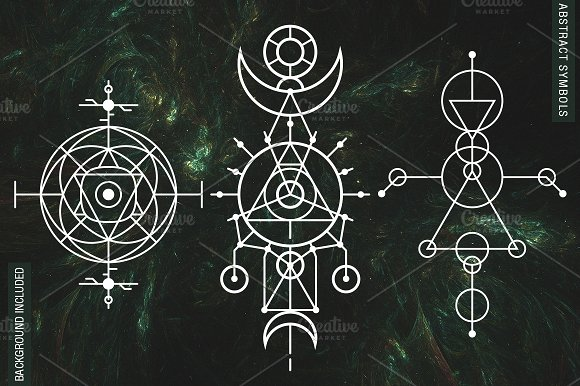 100 sacred geometry symbols illustrations creative market