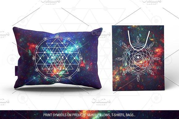 c88f04e0d1 100 Sacred Geometry Symbols ~ Illustrations ~ Creative Market