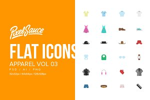 Clothes & Apparel Flat Icons Vol 03