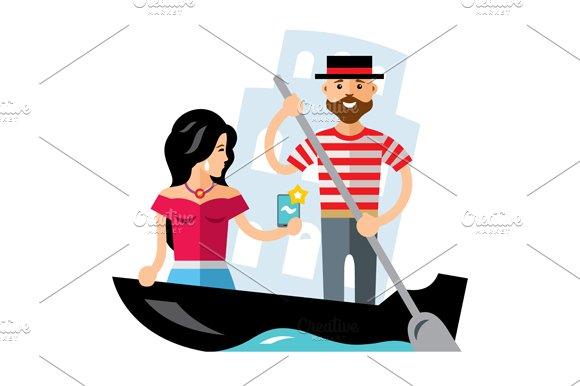 Gondola. Venice - Illustrations