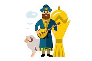 Kazakh Man. Kazakhstan
