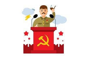 Soviet leader parodic character