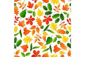 Autumnal seamless pattern