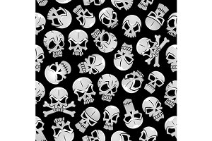 Halloween pattern with skulls