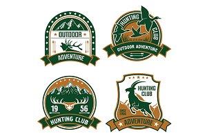 Hunting club shields set