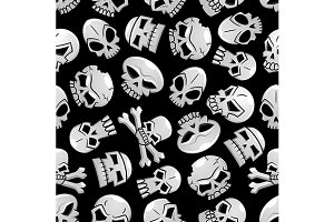 Skull seamless pattern for Halloween
