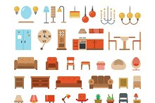 Home & office furniture flat icons