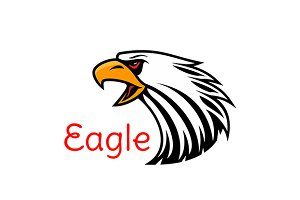 Bald Eagle head mascot icon