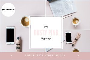 Dusty pink blog photos - 5 images