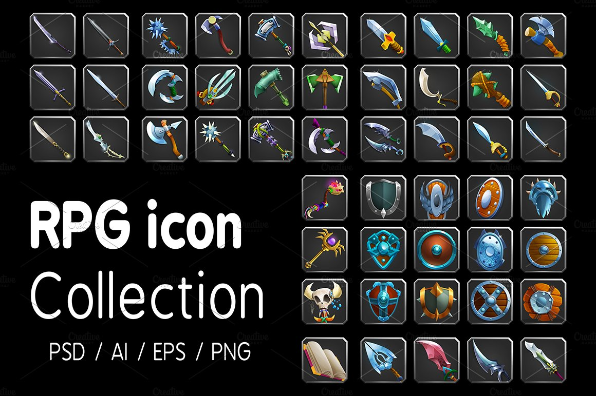 RPG icon collection ~ Icons ~ Creative Market