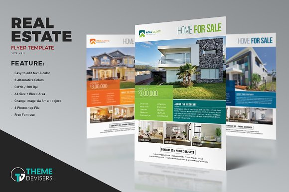 simple real estate flyer flyer templates creative market